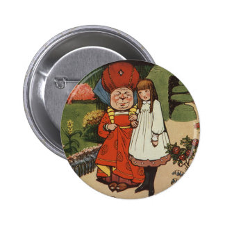 The Duchess walking in Gardens with Alice 6 Cm Round Badge