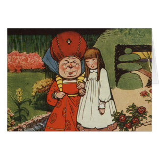 The Duchess walking in Gardens with Alice Greeting Cards