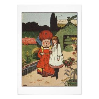 The Duchess walking in Gardens with Alice Custom Invitation