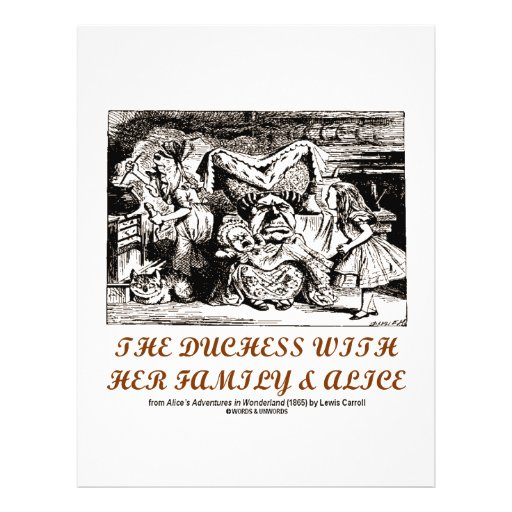 The Duchess With Her Family & Alice (Wonderland) Flyer Design