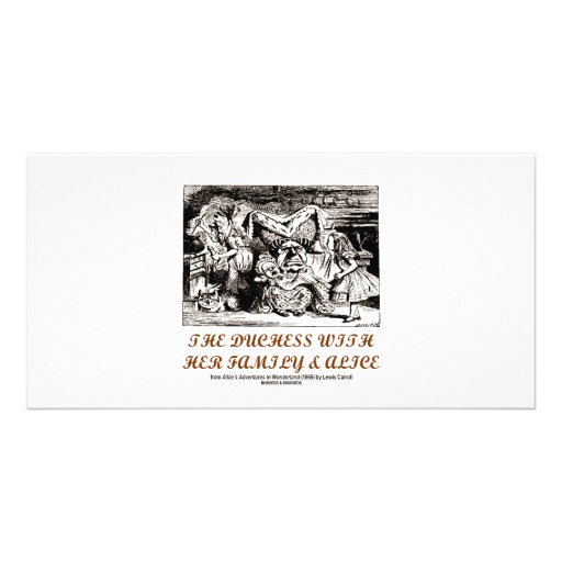 The Duchess With Her Family & Alice (Wonderland) Picture Card