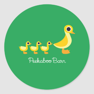 The Duck Family Classic Round Sticker