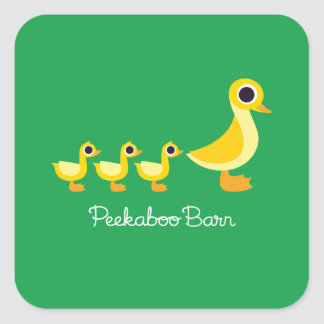 The Duck Family Square Sticker