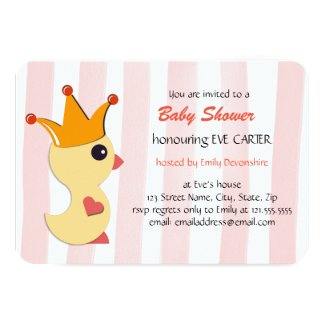 The Duckling Prince Baby Shower - rose pink
