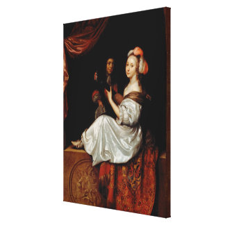 The Duet, 1665 (oil on canvas) Canvas Print