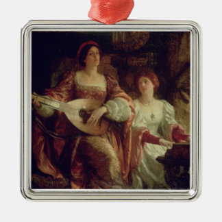 The Duet (oil on canvas) Christmas Ornament