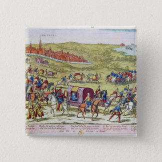 The Duke of Alba, recalled to Spain 15 Cm Square Badge