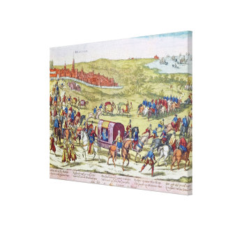 The Duke of Alba, recalled to Spain Canvas Print