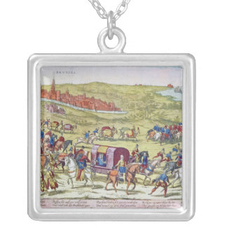 The Duke of Alba, recalled to Spain Silver Plated Necklace
