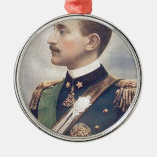 The Duke Of Aosta Silver-Colored Round Decoration