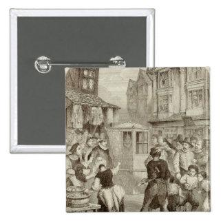 The Duke of Buckingham 15 Cm Square Badge