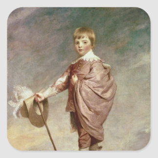 The Duke of Gloucester as a boy Square Sticker