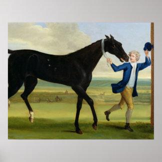 The Duke of Rutland s Bonny Black c 1720 oil o Poster