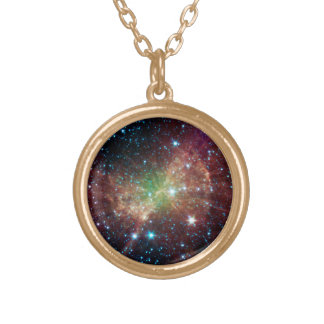 The Dumbbell Nebula Gold Plated Necklace