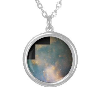 The Dumbbell Nebula (M27) Round Pendant Necklace