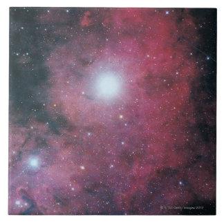 The Dumbell Nebula Large Square Tile