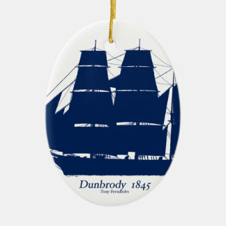 The Dunbrody 1845 by tony fernandes Ceramic Oval Decoration