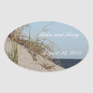 the Dunes Wedding Date Stickers