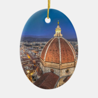 The Duomo in Florence, Italy Ceramic Oval Decoration