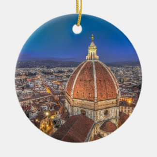 The Duomo in Florence, Italy Round Ceramic Decoration