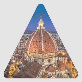 The Duomo in Florence, Italy Triangle Sticker