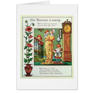 The Dustman is Coming (nursery rhyme illustration) Card