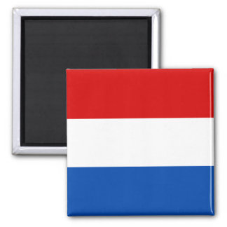 The Dutch Flag Square Magnet
