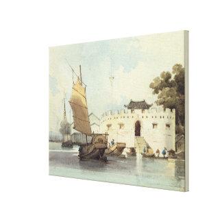 The Dutch Folly Fort off Canton (watercolour) Canvas Print