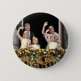 The Dutch Royal Family 6 Cm Round Badge