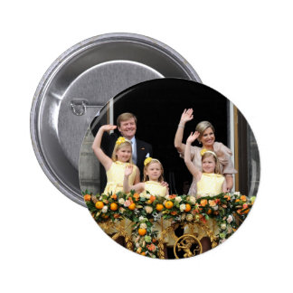 The Dutch Royal Family 6 Cm Round Badge