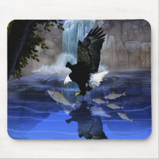 The eagle and the waterfall mouse mat