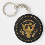 The Eagle has landed... Basic Round Button Key Ring