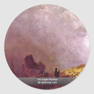 The Eagle Hunters By Spitzweg Carl Round Sticker