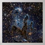 The Eagle Nebula aka The Pillars Of Creation Poster