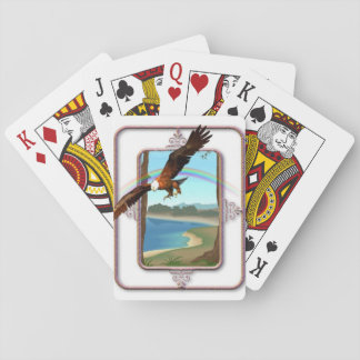 The eagle over the rainbow playing cards