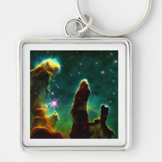 The Eagle Pillars of creation Silver-Colored Square Key Ring
