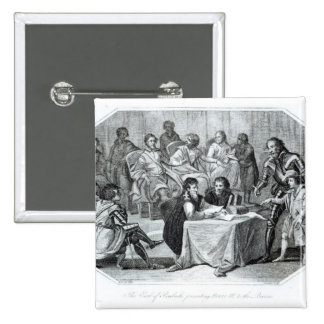 The Earl of Pembroke Presenting Henry III 15 Cm Square Badge