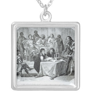 The Earl of Pembroke Presenting Henry III Silver Plated Necklace