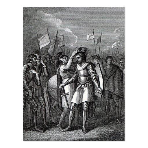 The Earl of Richmond chosen King Postcards
