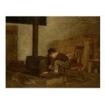 The Early Scholar - Eastman Johnson Post Card