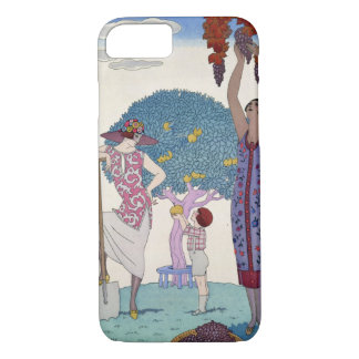 The Earth, 1925 (colour litho) iPhone 8/7 Case
