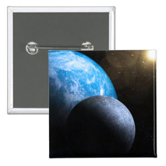 The Earth and Moon Pinback Buttons