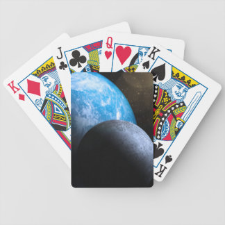 The Earth and Moon Bicycle Poker Cards