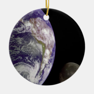 The Earth and Moon Christmas Ornament