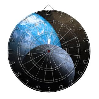 The Earth and Moon Dartboard
