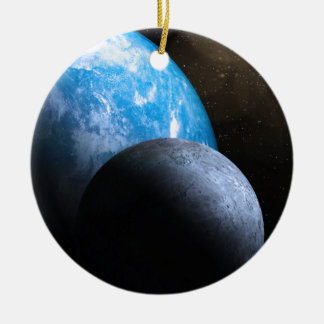 The Earth and Moon Christmas Tree Ornaments