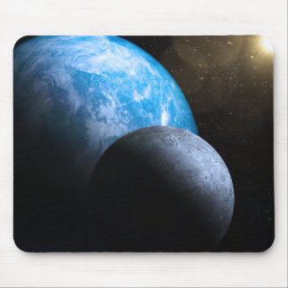 The Earth and Moon Mousepads