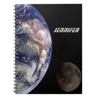 The Earth and the Moon Notebook