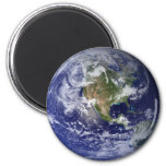 The Earth From Space Fridge Magnets