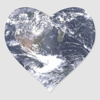 the earth from space heart sticker